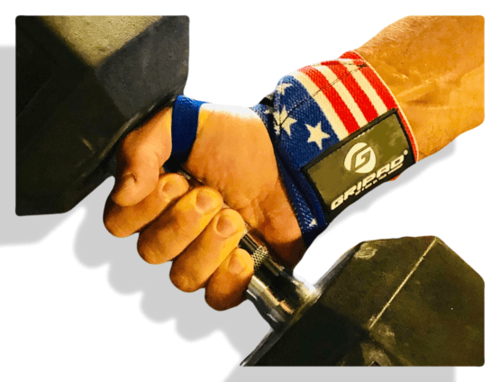 Weightlifting wrist wraps by Gripad