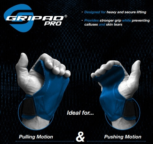 workout grips Gripad PRO weightlifting grips